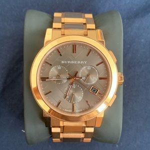 Burberry The City Rose Gold-Tone Unisex Watch